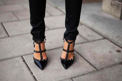 valentino 'rockstud' stilettos.