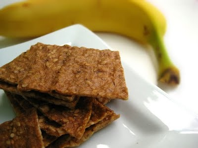 Amazing banana flax crackers. Easy to make, delicious, and so good for you :) Great snack!