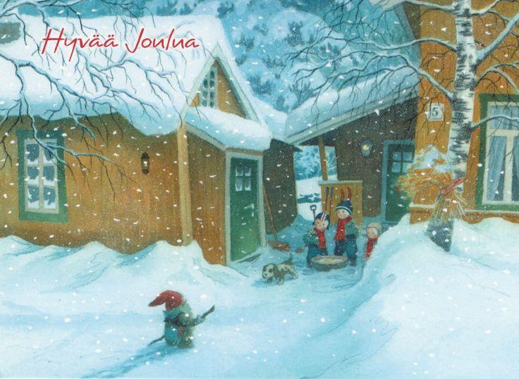 Kjell EMidthun Santa Claus En Kinderen In De Tuin
