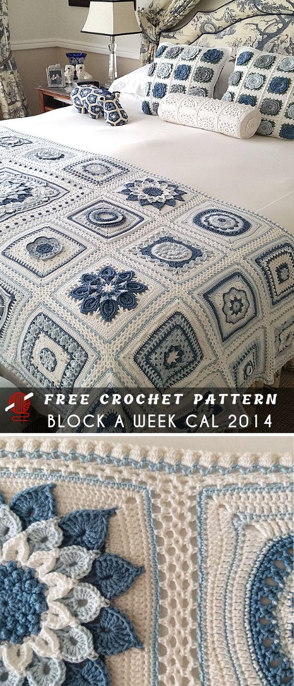 SharonBlignaut's Crochet Block a Week CAL 2014 Free