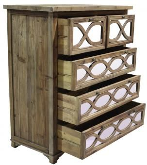 Nathalia 5 Drawer Mirror Chest. A Block and Chisel Product.