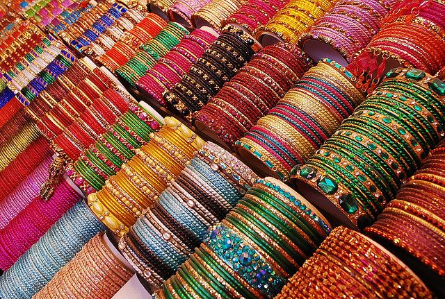 Bangles  Always being a part of an Indian woman's accessories, they signify her status as a married woman who is respectful and courteous. Bangles are an important accessory in Indian weddings as well.