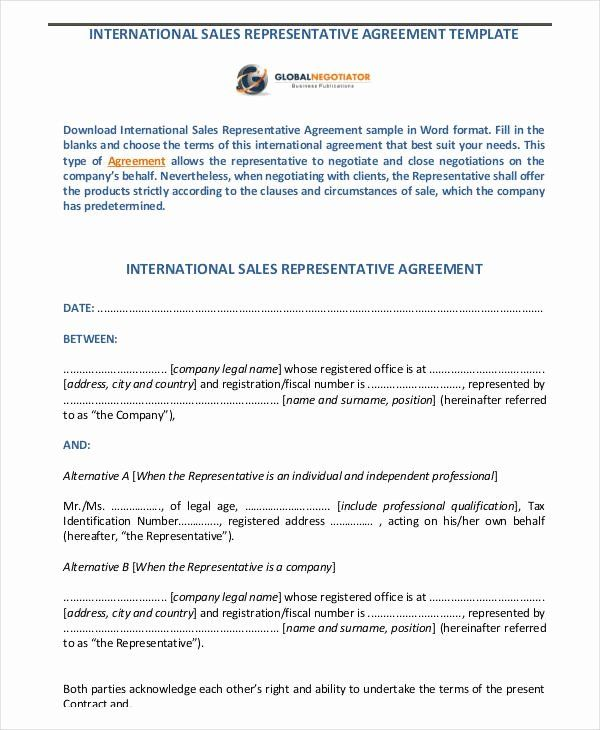 Sales Rep Contract Template In 2020 Contract Template Templates