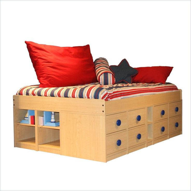 Full Size Captain Bed Plans Woodworking Projects Amp Plans