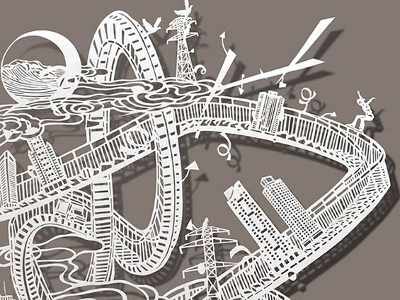 Best ART Cut Paper Bovey Lee Other Artists Images On - Incredible intricately cut paper designs bovey lee