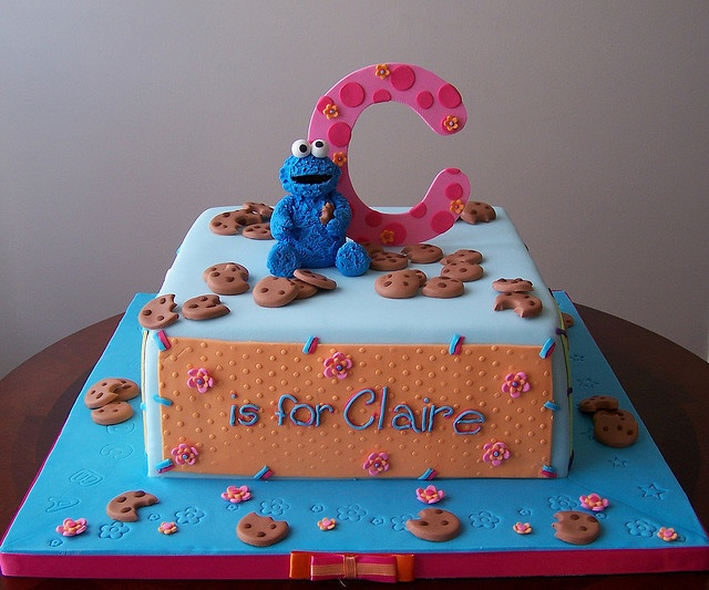 cookie monster cake #cookiemonster #party #cake