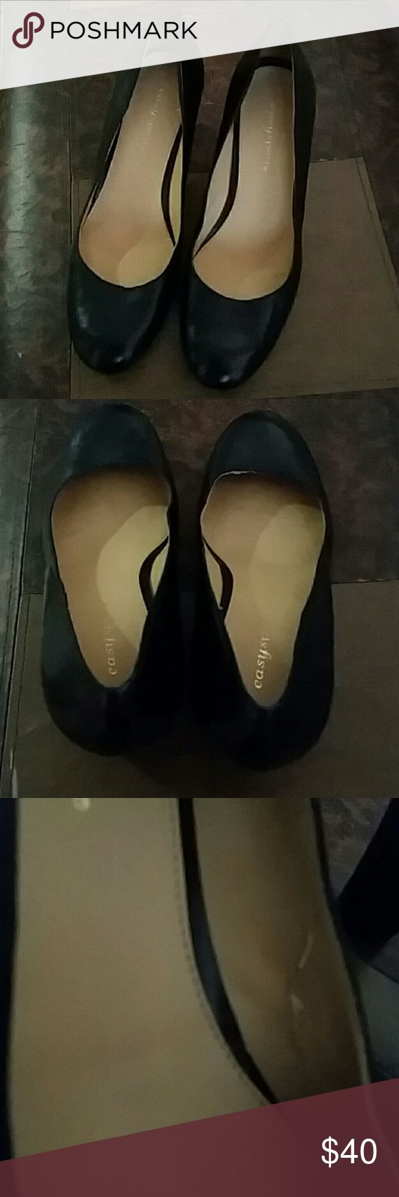 Easy Spirit Black Leather Pumps Gorgeous Easy Spirit Black Leather Pumps. These butter soft pumps leather pumps are in excellent condition and have never been worn. Slight peeling on inside due to storage (see photos). Easy Spirit Shoes Heels