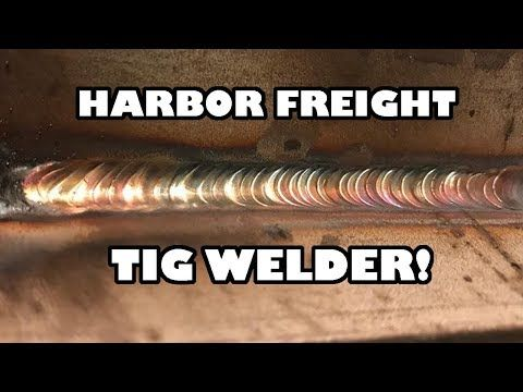 Stick Welding with Harbor Freight Wire Feed - YouTube