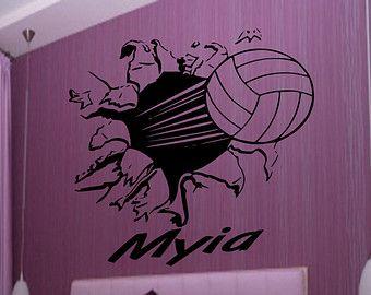 Está en mi sangre voleibol etiqueta de la pared por SportsVinyl