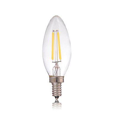 DIMMABLE 2w E14 180lm водить лампы накаливания Эдисона стекла свечах освещение для люстры (AC220-240V)