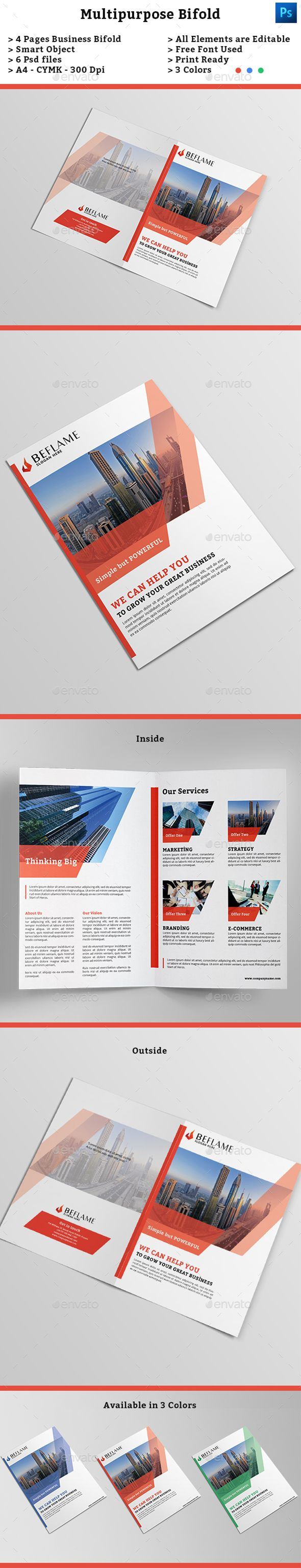 Corporate Bifold Brochure Template PSD #design Download: http://graphicriver.net/item/corporate-bifold-brochure-template/13748766?ref=ksioks