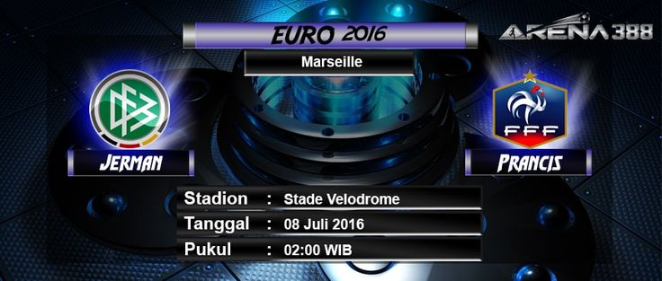 Pada kesempatan kali ini kami sebagai agen bola terpercaya indonesia akan mengulas prediksi pertandingan babak semi final antara Jerman Vs Prancis yang akan berlangsung diStade Velodrome ( Marseille ) pada tanggal 08 Juli 2016 pukul 02:00 WIB , bergabunglah dengan kami dan dapatkan promo bonus yang kami berikan kepada seluruh member setia