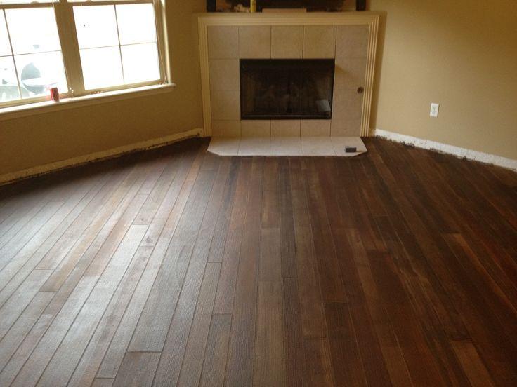 Concrete Floor Looks Like Wood Planks