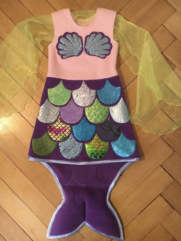 """Kostüme für Kinder - Kostüm """"Kleine Meerjungfrau"""", lila (... - ein Designerstück von Zuckerhexe bei DaWanda"""