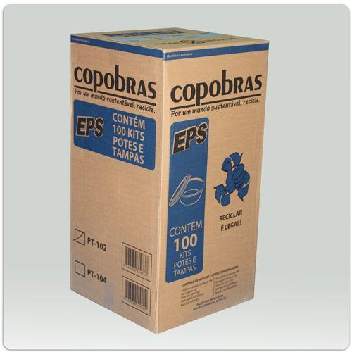 70000 - MARMITA DE ISOPOR R2 - CAIXA COM 100 UNIDADES- R$ 34,00