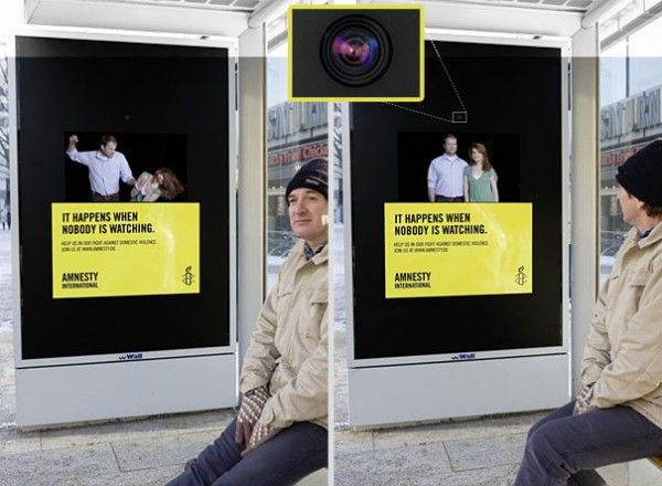 Amnesty International Spousal Abuse | Bus Stop Ad