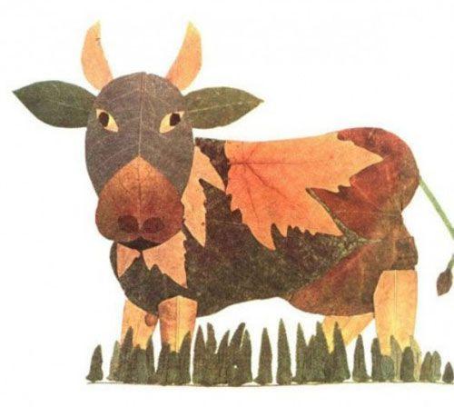 Come creare un toro con le foglie autunnali