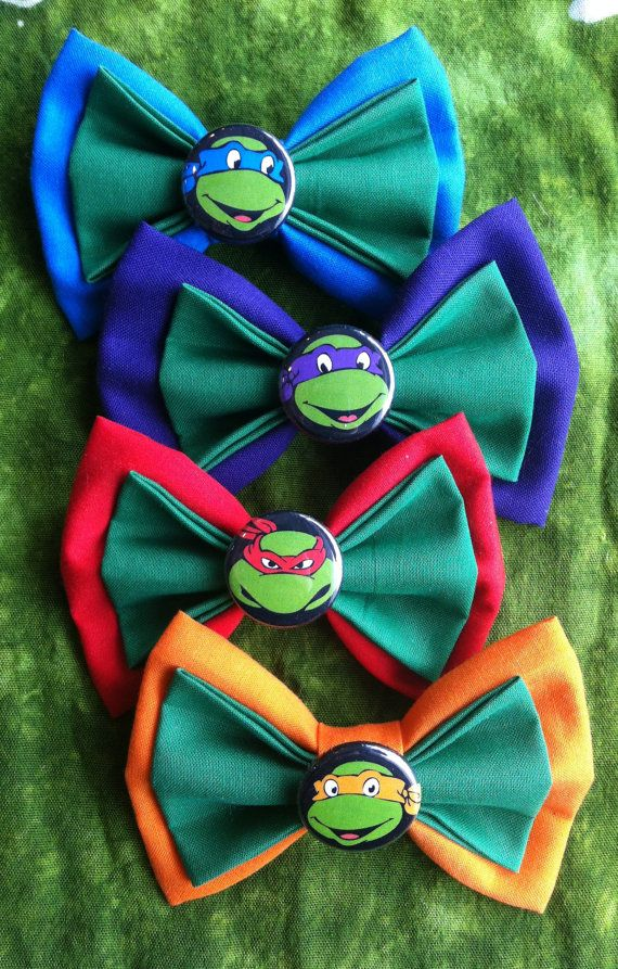 Teenage Mutant Ninja Turtles Hair Bow Clip by DesignsByMoxieMae, $18.00