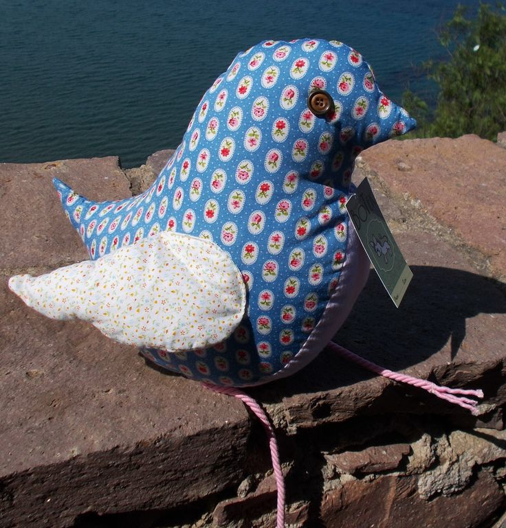 Happiness is a little bird staying with you <3 Fabric bird - also for cuddles