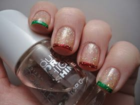 Dutchie Nails: Christmas Funky French