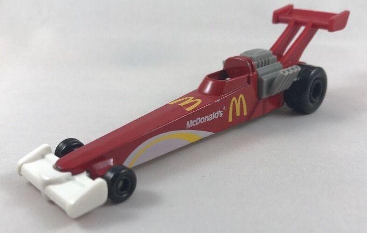 1993 Mattel Hot Wheels Roarin' Rods McDonald's Dragster Red Vintage Diecast #HotWheels