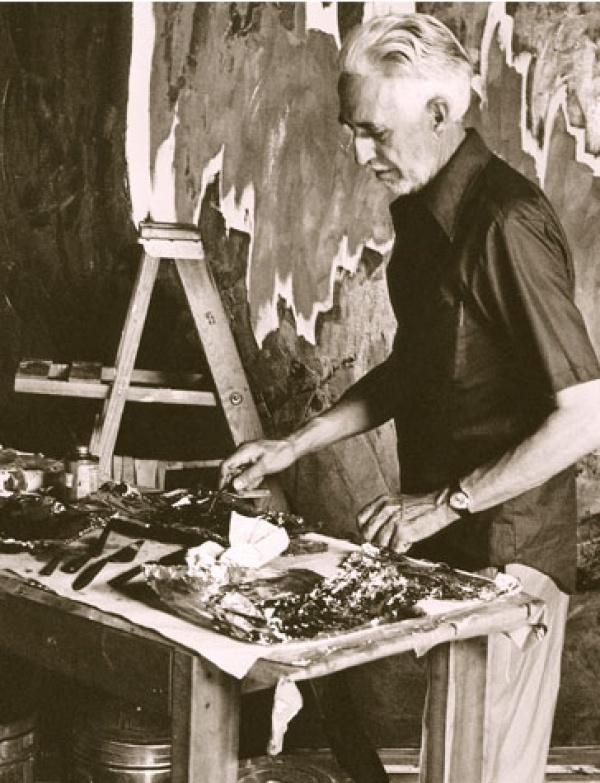 Clyfford Still in his Studio c1973