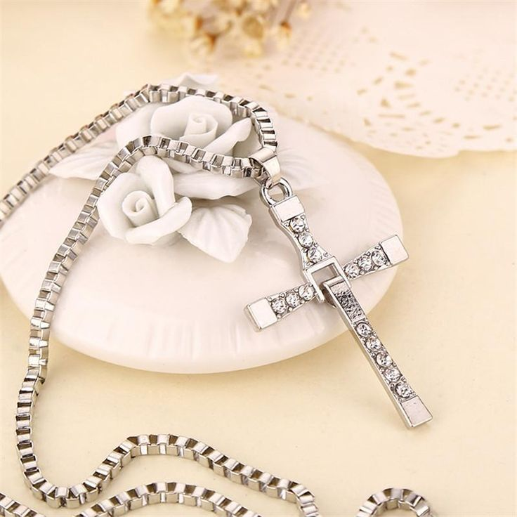 Hot Sale Fashion Movie Big Size Stainless Steel Cross Chain Pendant Necklace Gifts