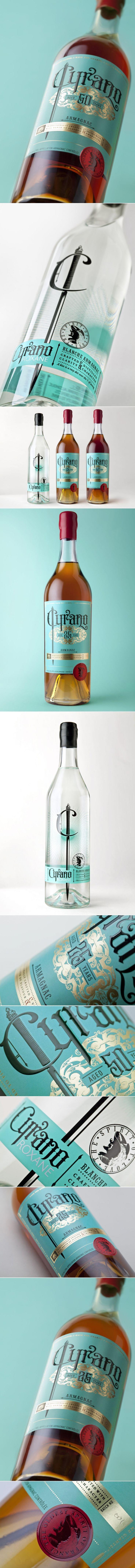 Drink Up the Oldest Spirit of France: Cyrano Armagnac — The Dieline - Branding & Packaging Design