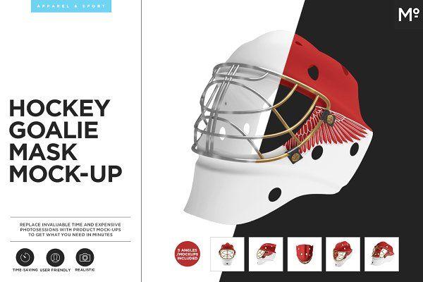 Hockey Goalie Mask Mock Up Dengan Gambar