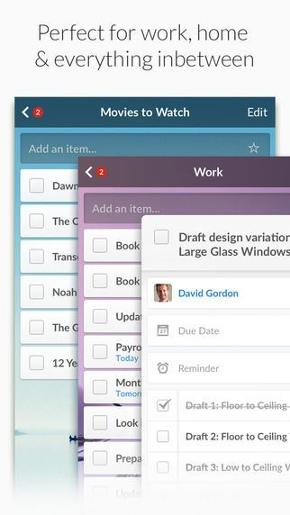 Best productivity #apps we #levolove: 6. Organize your personal life with this iphone app: Wunderlist app