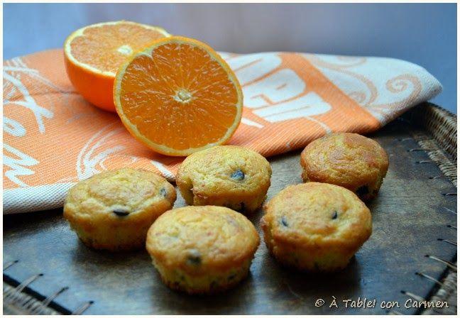 Magdalenas de Naranja y Lágrimas de Chocolate ... para llorar de gusto