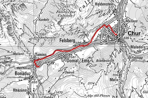 Wanderung: Chur - Felsberg - Reichenau