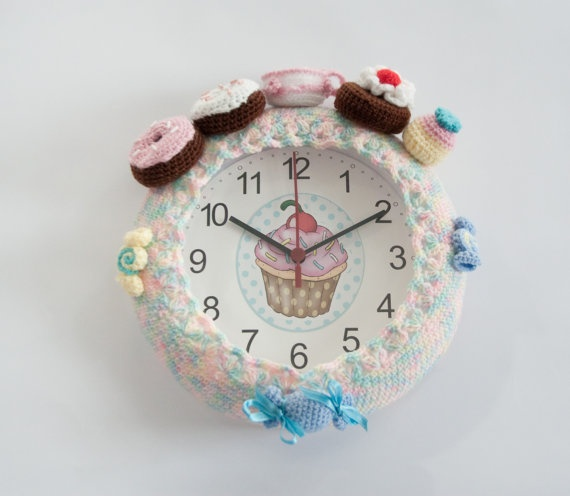 35 best crochet clock images on pinterest crocheting patterns sweet crochet candy clock by mademoiselleopossum on etsy 2990 fandeluxe Choice Image
