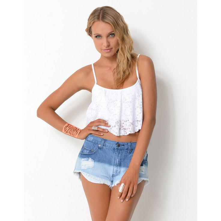 lace crop tops | Rosella* Lace Crop Top