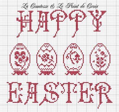 Easter cross-stitch design