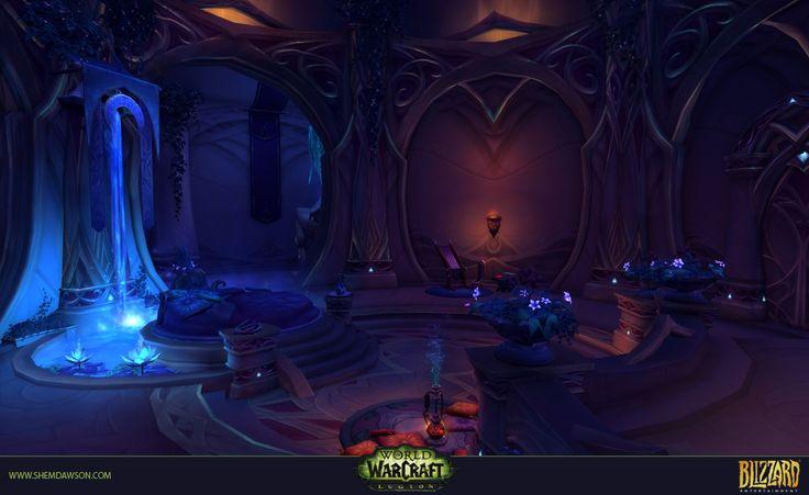 ArtStation - Suramar - Court of Stars Dungeon, Shem Dawson