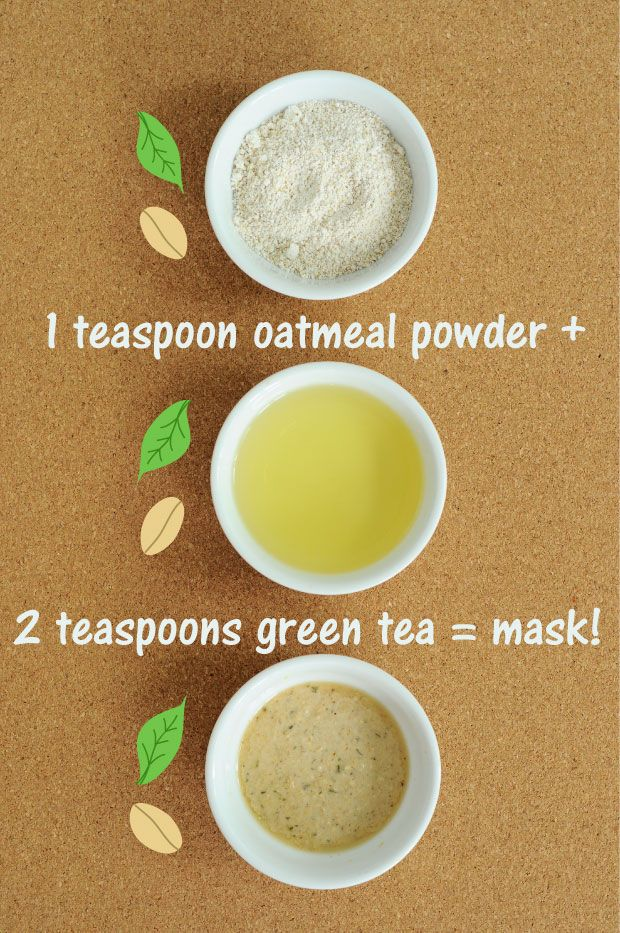 The Fix EVERYTHING Oatmeal & Green Tea Mask Recipe {Only 2 Ingredients!} Clears Pores, Exfoliates, Reduce Redness, Leaves a Beautiful Fresh Glow