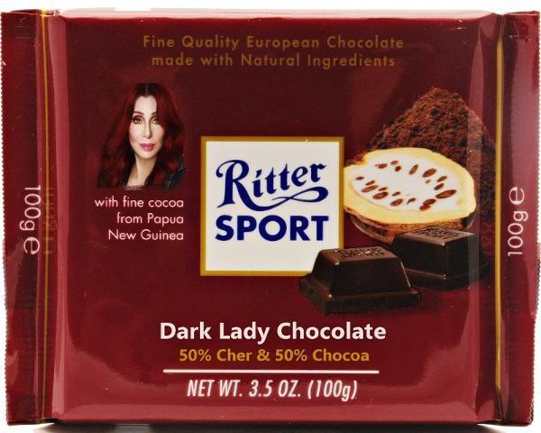 RITTER SPORT Fake Dark Lady Chocolate