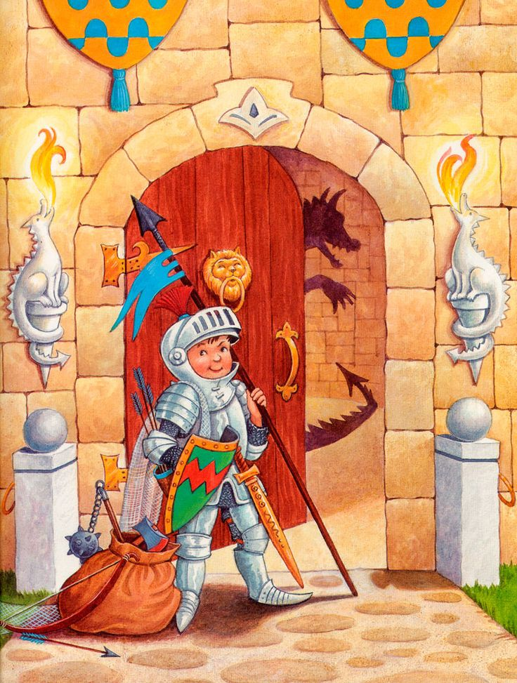 Praatplaat ridders, kleuters
