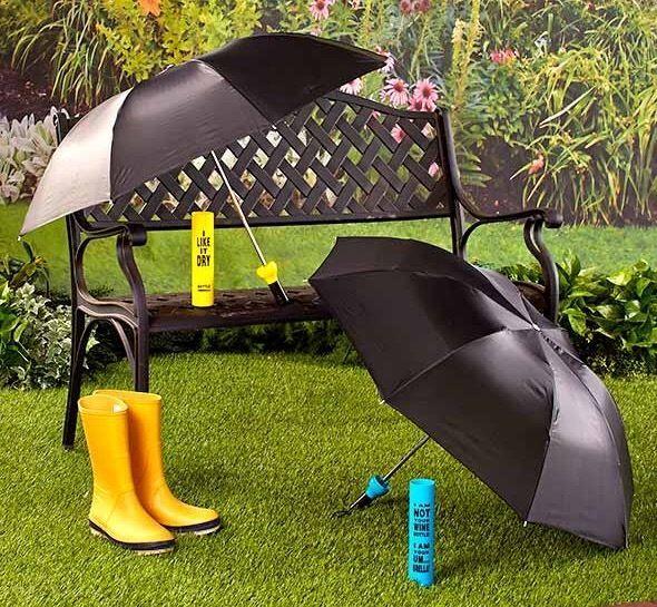 Novelty Wine Bottle Compact Umbrella - Yellow - I Like it Dry. Bottle Umbrella  #Unbranded #CompactFolding