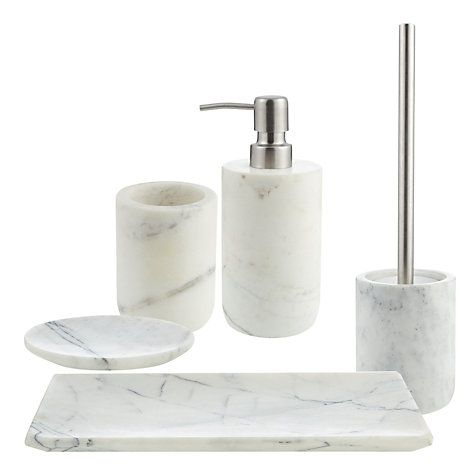 Buy John Lewis White Marble Bathroom Accessories Online at johnlewis.com