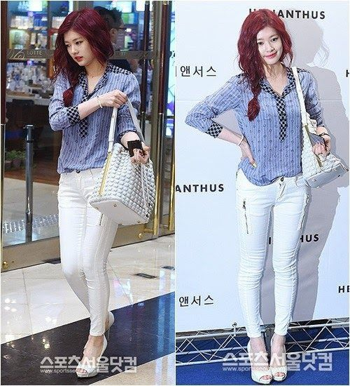 39 white skinnies 39 seohyun son dambi jung somin netizen. Black Bedroom Furniture Sets. Home Design Ideas
