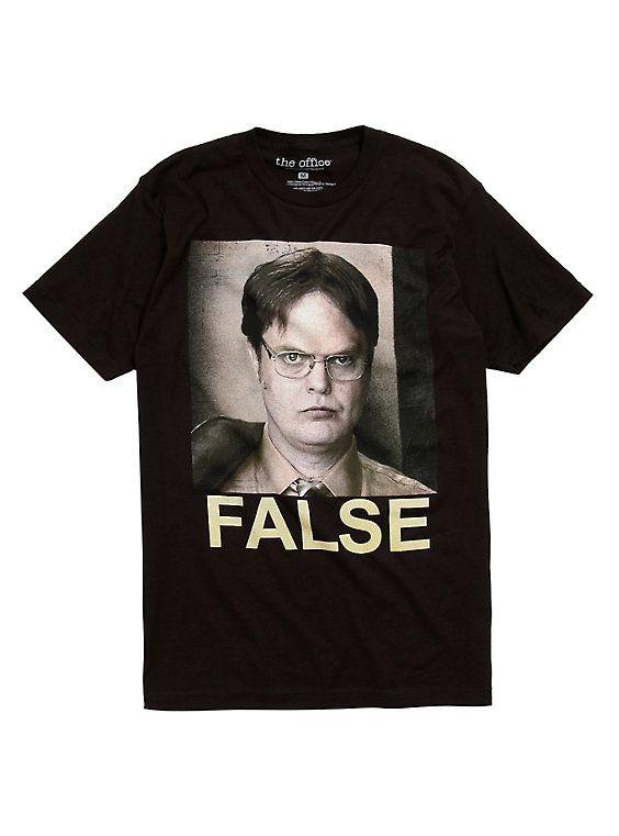 The Office Dwight False T-Shirt, BLACK