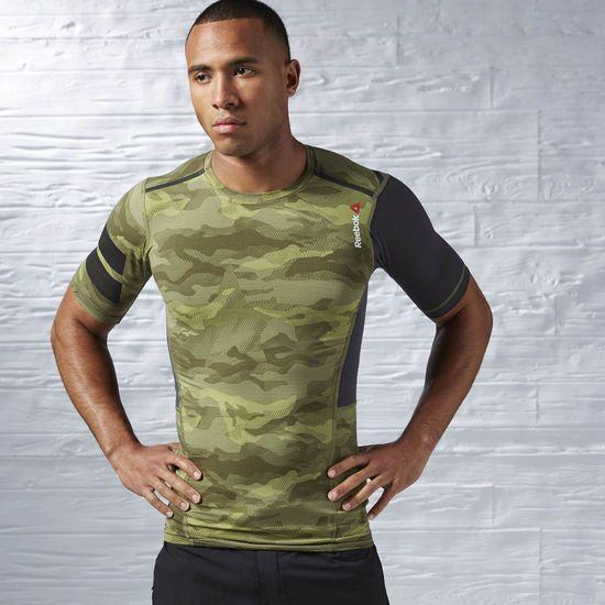 Компрессионная футболка QuickCotton - зеленый