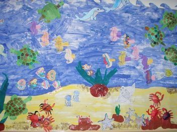 Animals under the Sea display, classroom Display, Class Display, fish, crab, sea, octopus, water, Early Years (EYFS),KS1 & KS2 Primary Teaching Resources