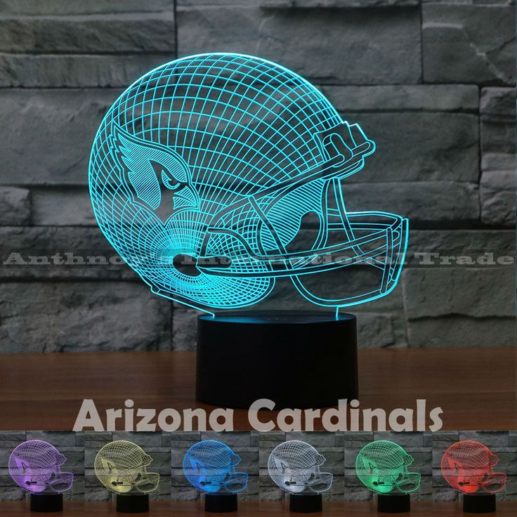 ==> [Free Shipping] Buy Best Arizona Cardinals NFL Team Logo Collection model USB lamps 7 Color Changing Rubgy team logo LED Lamp Christmas gift Drop Ship Online with LOWEST Price | 32758643048