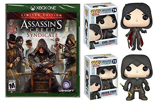 Assassin's Creed: Syndicate - Limited Edition - Xbox One Bundle with Funko Pop! Vinyl Figures: Jacob Frye & Evie Frye. Includes Darwin & Dickens Conspiracy Mission //Price: $39.99 & FREE Shipping //     #funkopop #funkopops #funko #funkos #popvinyl #funkopopvinyl #funkopopvinyls #funkopopvinylfigure #funkopopvinylfigures #funkopopvinyltoy #funkopopvinyladdiction #funkopopvinyluk #funkopopvinylcollector #funkopopvinylphotography #funkopopvinyle #funkopopvinylbobblehead…