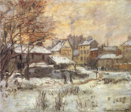"Claude Monet, ""Snow Effect with Setting Sun"""