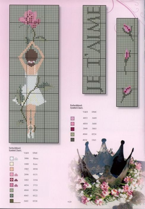 point de croix danseuse - cross stitch ballerina, dancer