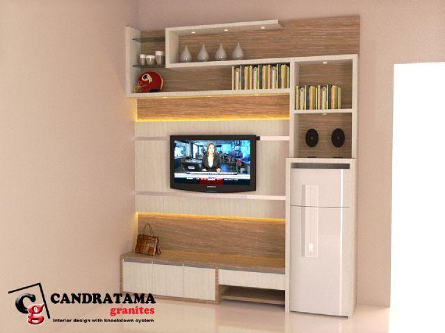 interior kediri - interior nganjuk - interior malang - interior blitar - interior jombang - interior tulungagung - interior trenggalek - rak - backdrop tv - ruang keluarga - minimalis - modern